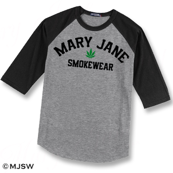baseball shirt ganja marijuna
