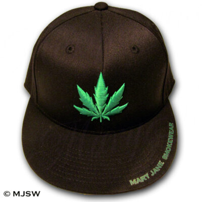 pot leaf hat ganja mary jane smokewear 420